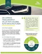 Nitor Procurement Case Study Auto Industry