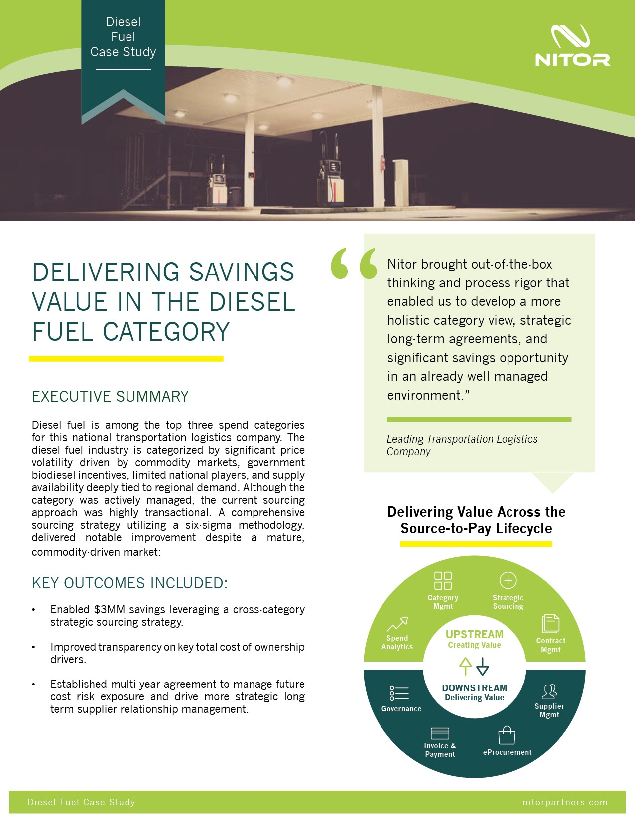 Nitor Strategic Sourcing Case Study Diesel Fuel