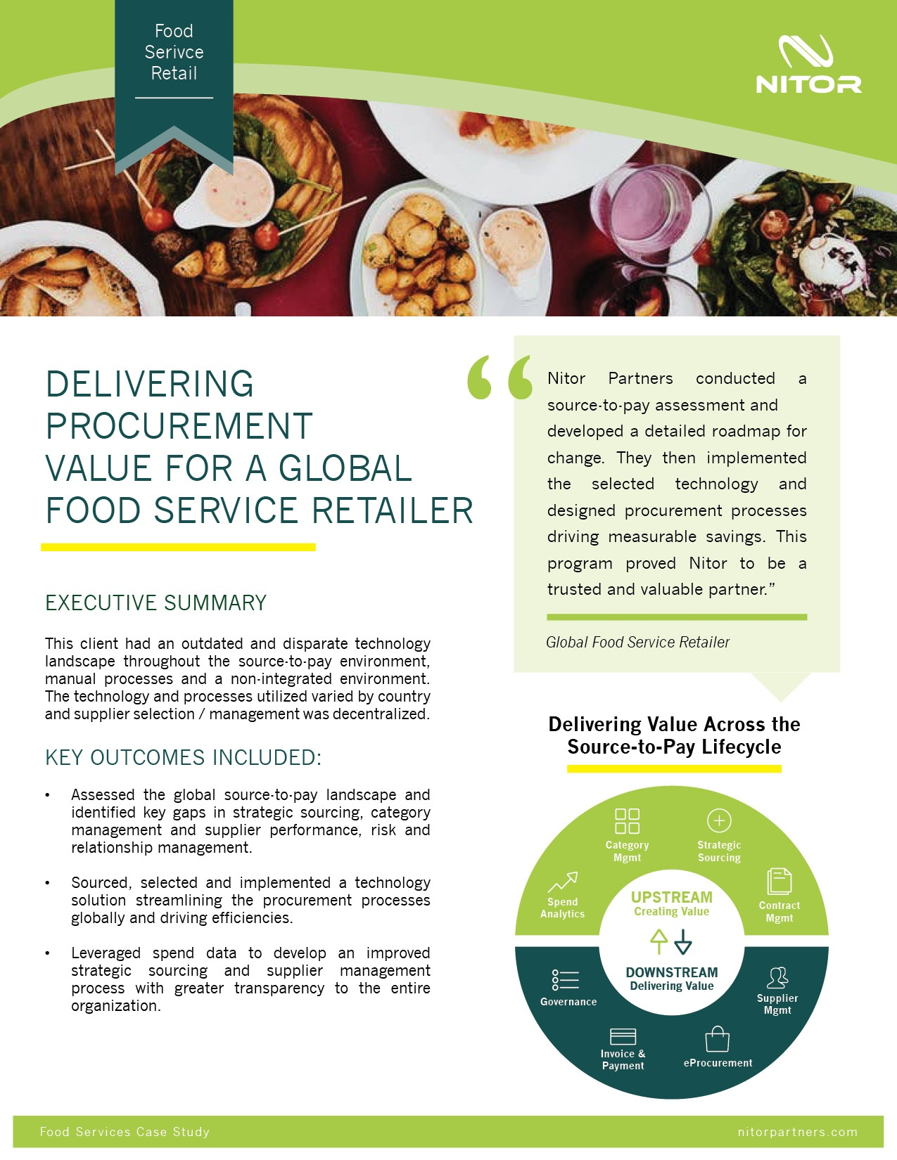 Nitor Procurement Case Study Food Services.