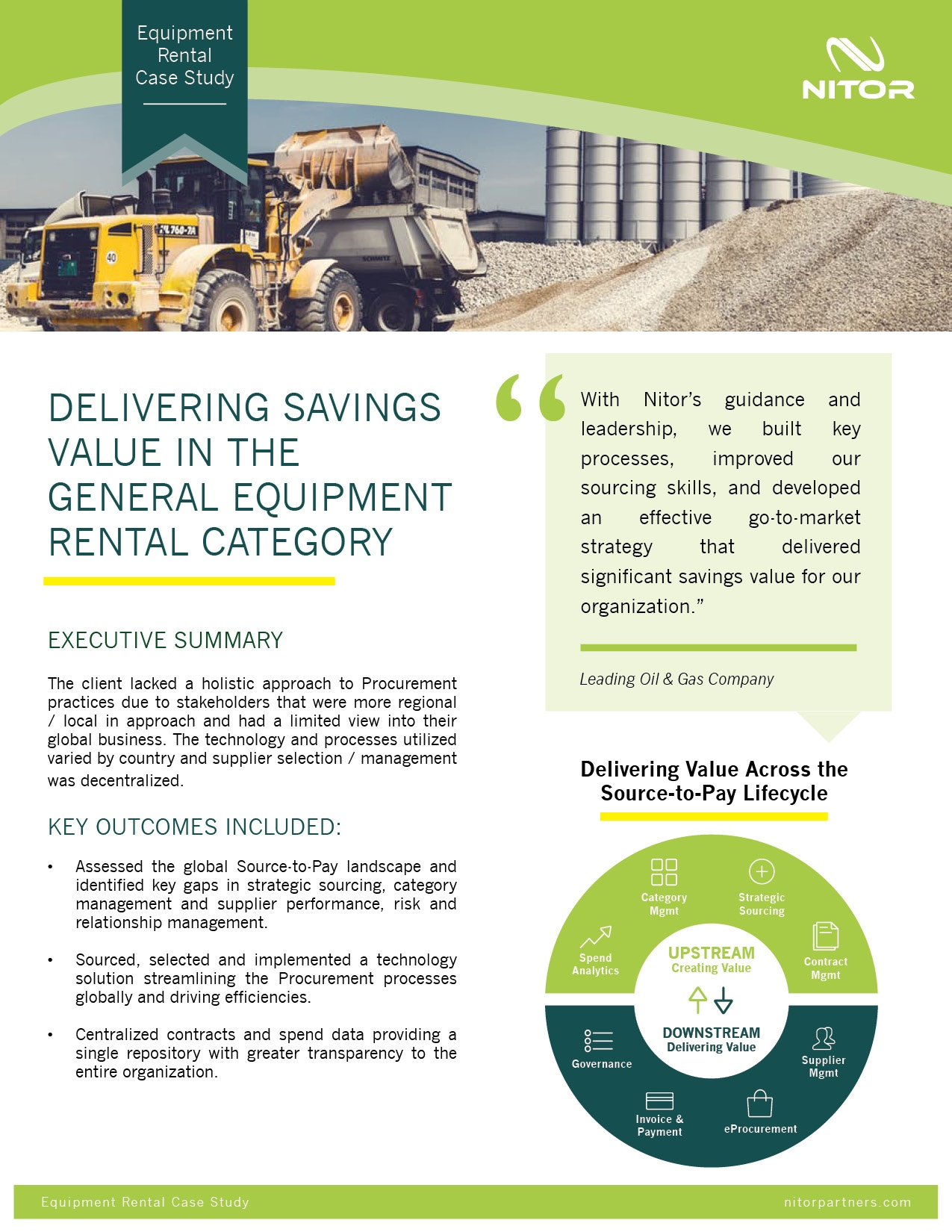 Nitor Strategic Sourcing Case Study General Equipment Rental
