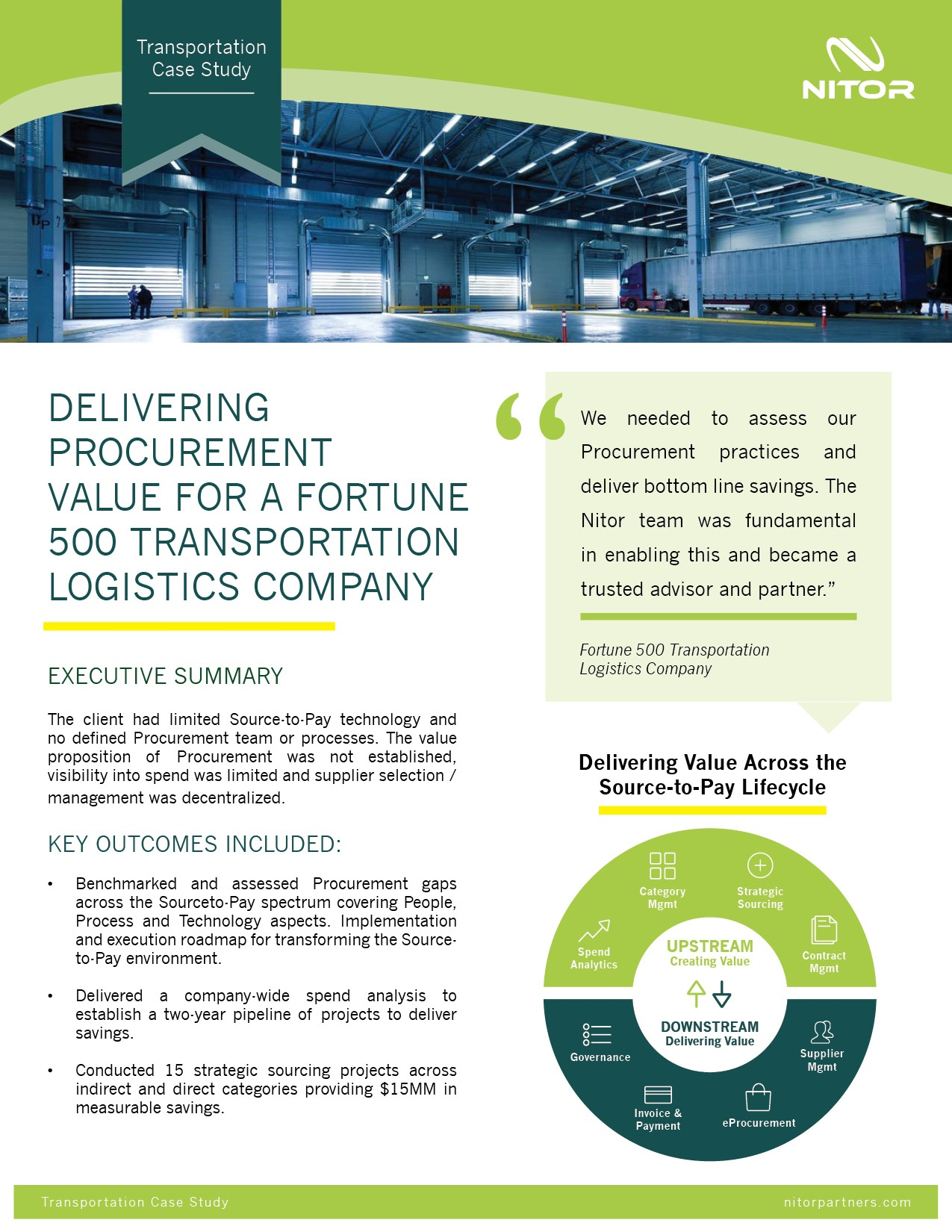 Nitor Procurement Case Study Transportation Logistics